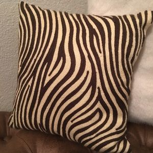 "Pottery Barn 12"" square Crewel Accent Pillow"
